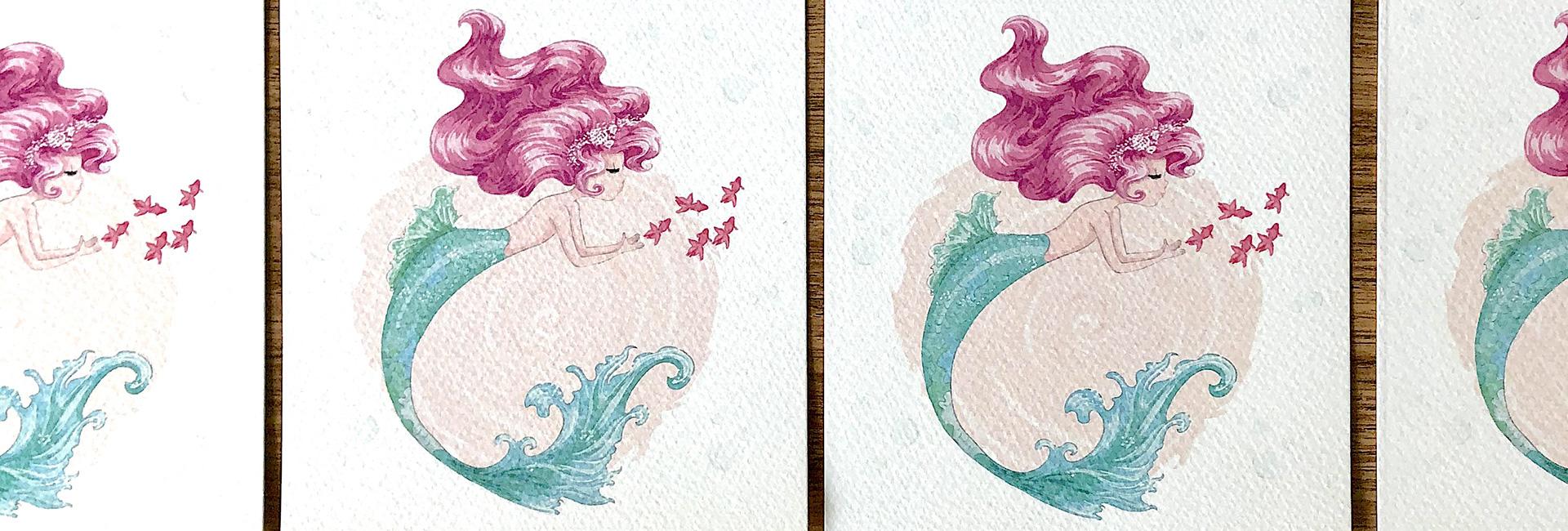 Invito Purple Mermaid